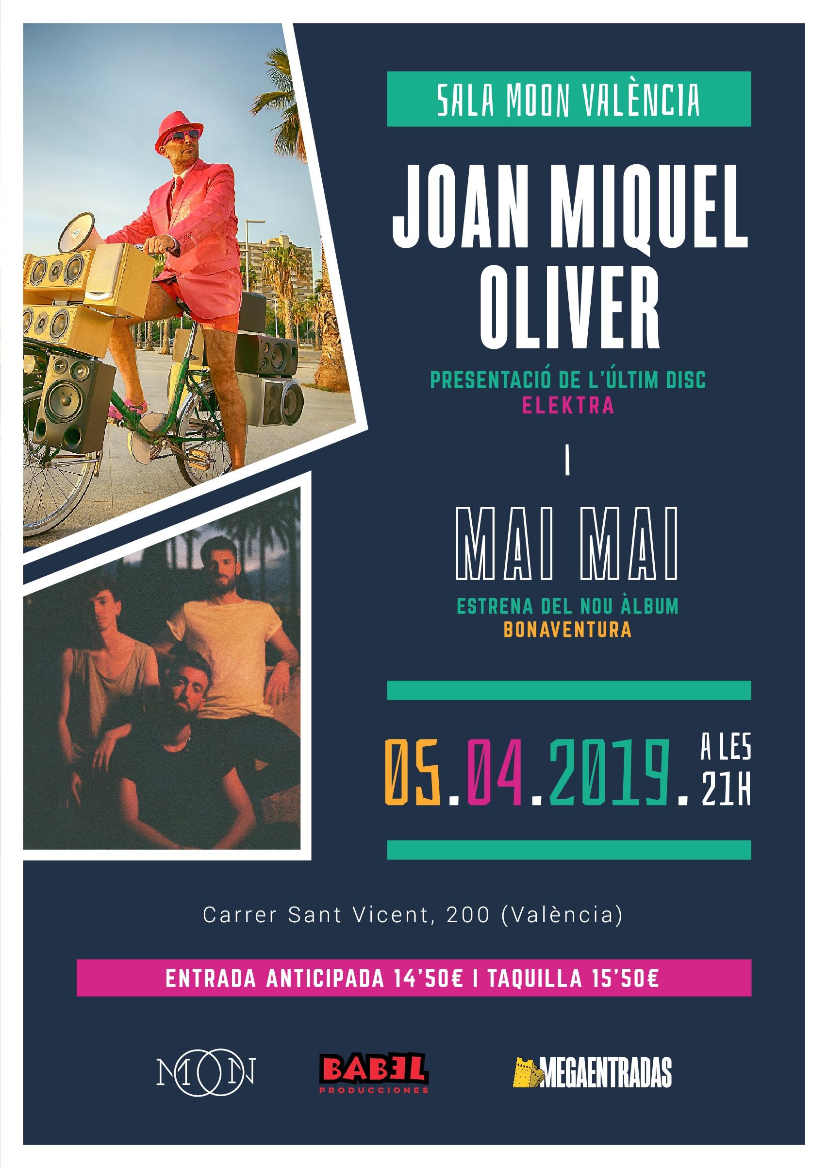 Joan Miquel Oliver i Mai Mai a la Sala Moon de València